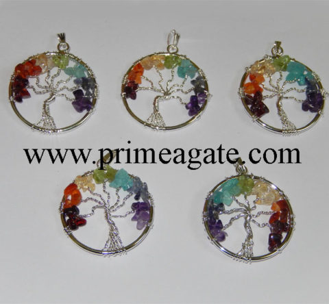 Chakra-Tree-Of-Life-Pendants
