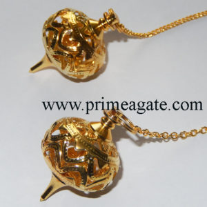 Golden-Cage-Metal-Pendulums