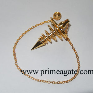 Golden-Metal-Big-Coil-Pendulum
