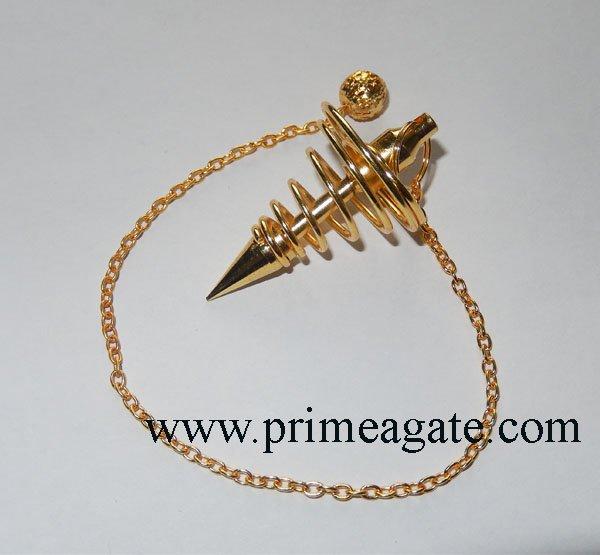 Golden-Metal-Big-Coil-Pendulum