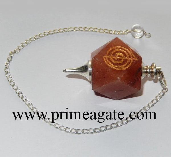 Red-Aventurine-Reiki-Engraved-Pendulum