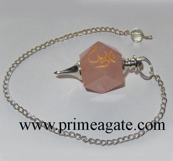 Rose-Quartz-OM-Engraved-Pendulum