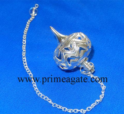 Silver-Cage-Metal-Pendulum