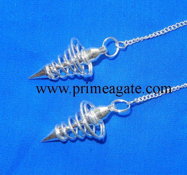 Silver-Coil-Metal-Pendulum