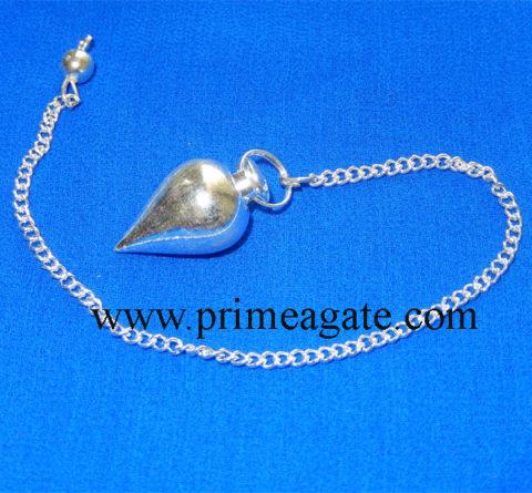Silver-Tear-Drop-Metal-Pendulum