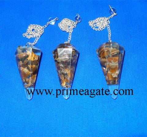 Tiger-Eye-Orgone-Pendulums