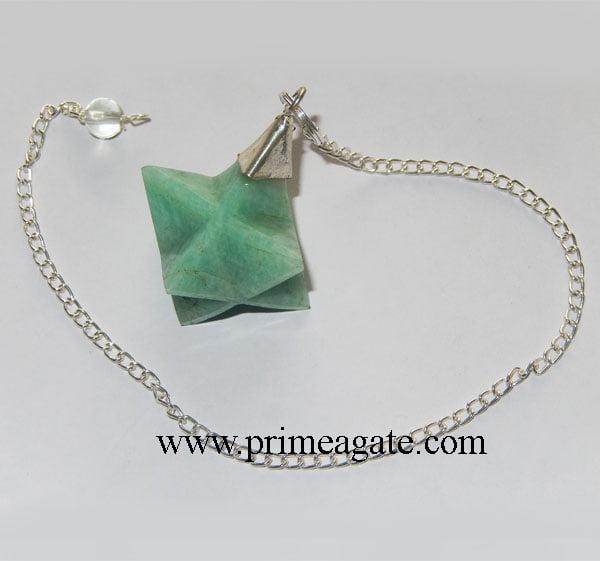 Amazonite-Merkaba-Star-Pendulum