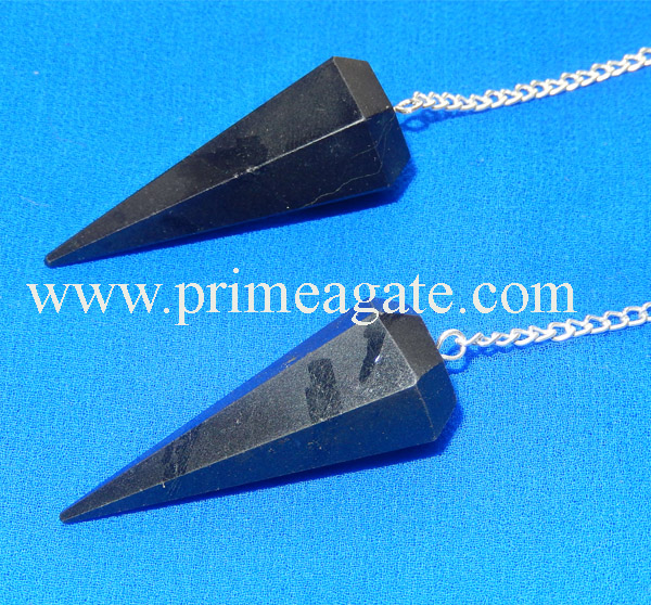 Black-Tourmaline-Facetted-Pendulums