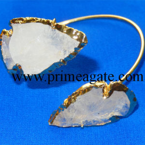 Crystal-Quartz-Electroplated-Arrowhead-Bangle