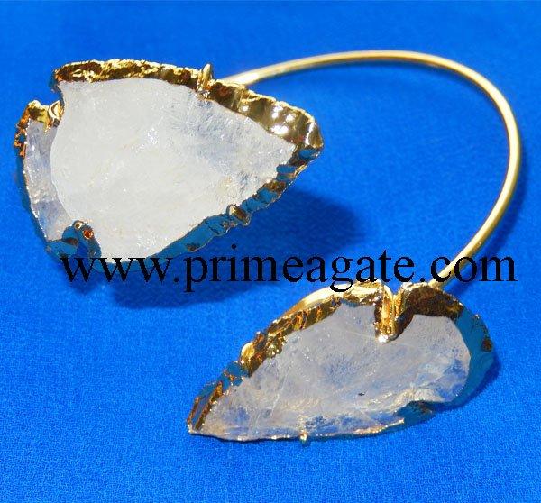 Crystal-Quartz-Electroplated-Arrowhead-Bangle