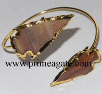 FancyJasper-2INCH-Electroplated-Arrowhead-Bangle