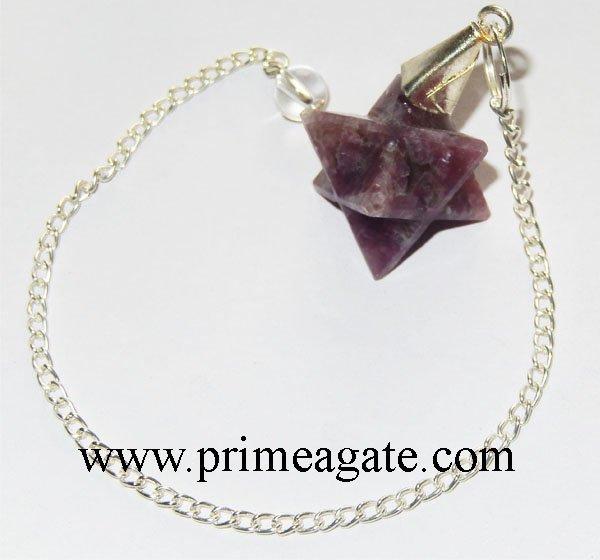 Lepidolite-Merkaba-Star-Pendulum