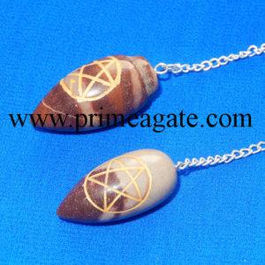 Pentagram-Engraved-Narmada-Lingum-Pendulum