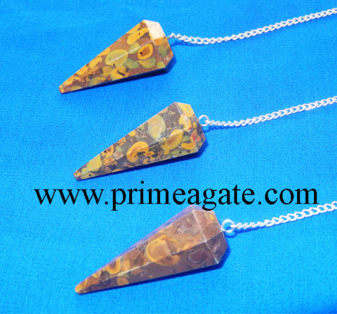 Picasso-Jasper-Facetted-Pendulums