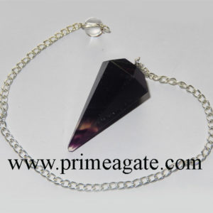 Purple-Flourite-Faceted-Pendulum
