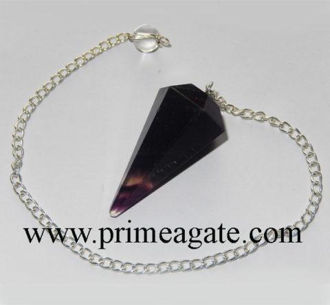 Purple-Flourite-Faceted-Pendulum