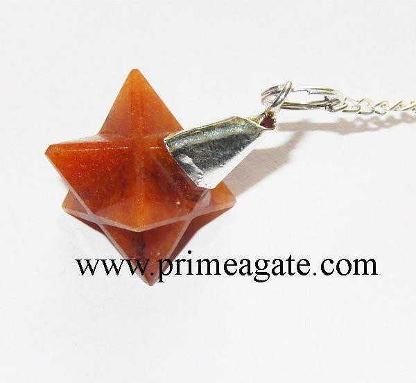Red-Aventurine-Merkaba-Star-Pendulum