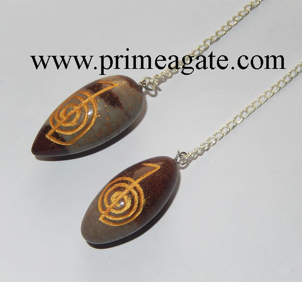 Reiki-Engraved-Narmada-Lingum-Pendulum