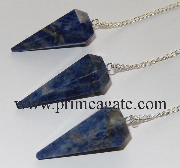 Sodalite-Faceted-Pendulums