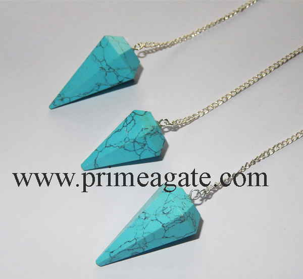 Turquoise-Faceted-Pendulums