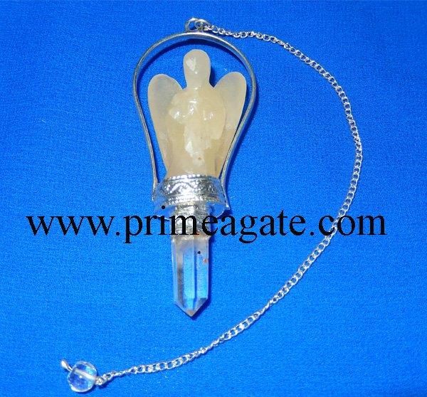 Yellow-Aventurine-Basket-Angel-Pendulum