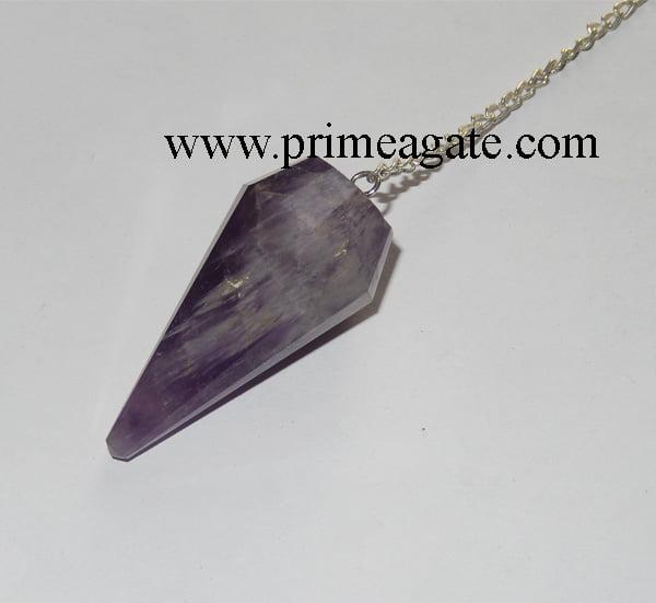 Amethyst-Facetted-Pendulum