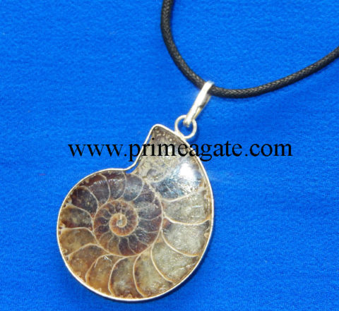Ammonite-Pendants-With-Black-Cord
