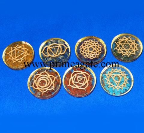 Chakra-Orgone-Engraved-Disc-Set