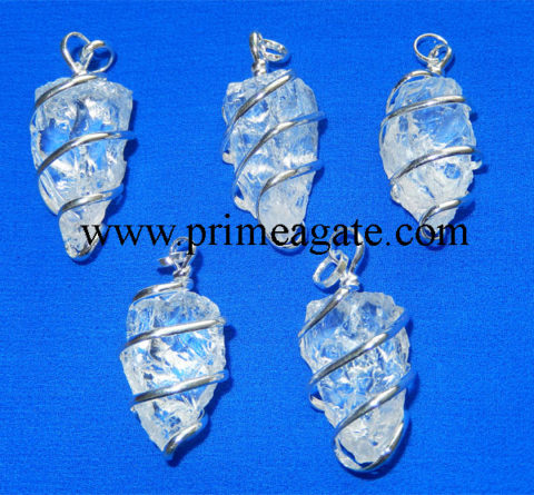 Crystal-Quartz-Natural-Point-Wrapped-Pendants