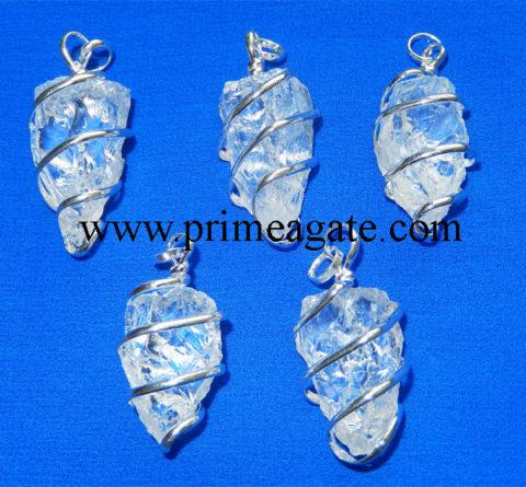 Crystal-Quartz-Natural-Point-Wrapped-Pendants