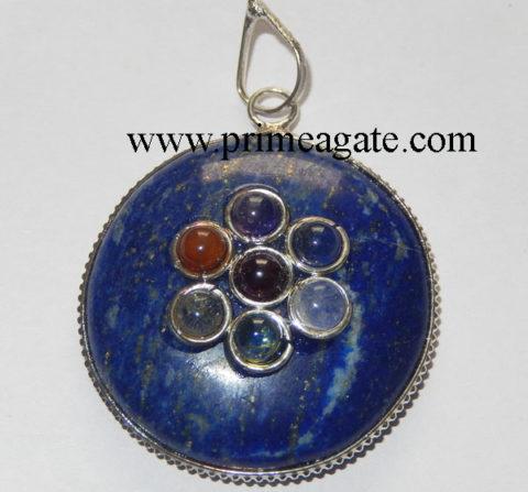 Lapis-Lazuli-Chakra-Disc-Pendant