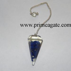 Orgone-Lapis-Lazuli-Facetted-Pendulum