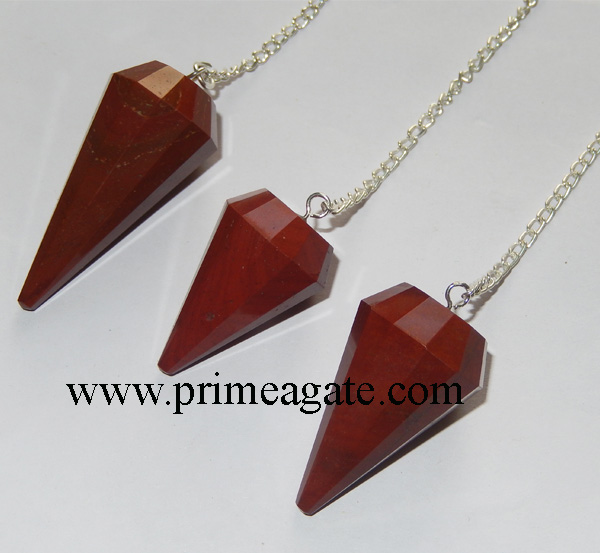 Red-Jasper-Facetted-Pendulums