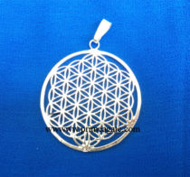 Silver-Flower-Of-Life-Metal-Pendant