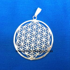Silver-Flower-Of-Life-Metal-Pendant