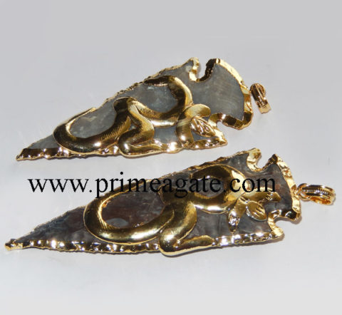 OM-Embossed-Electroplated-Arrowhead-Pendants
