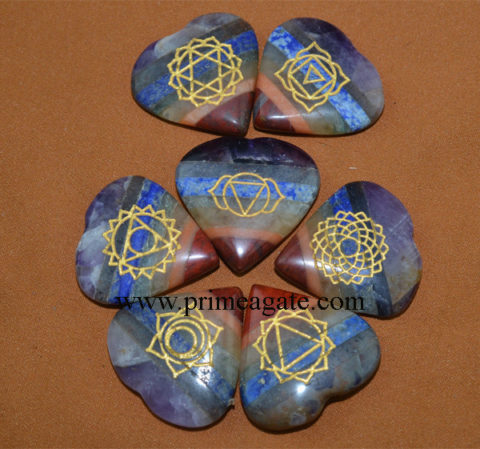 Chakra-Stones-Bonded-Engraved-Chakra-Heart-Set