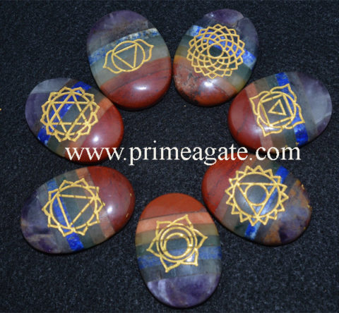 Chakra-Stones-Bonded-Engraved-Chakra-Oval-Set