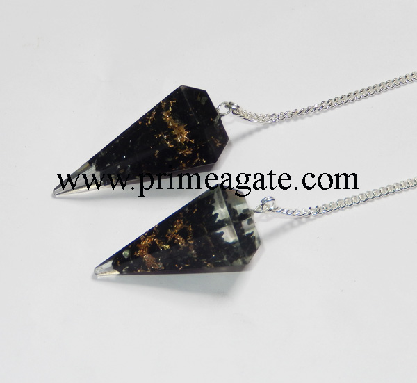 Orgone-Black-Tourmaline-Facetted-Pendulums