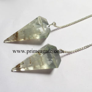 Selenite-Facetted-Pendulums