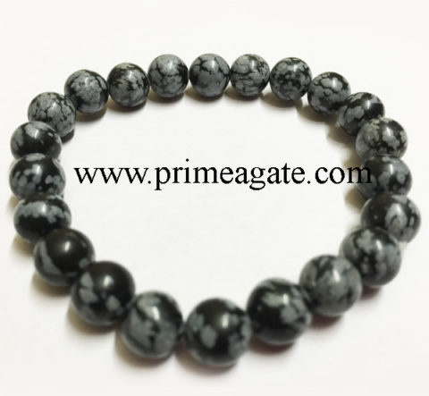 Snowflake-Obsidian-Stretchable-Bracelet