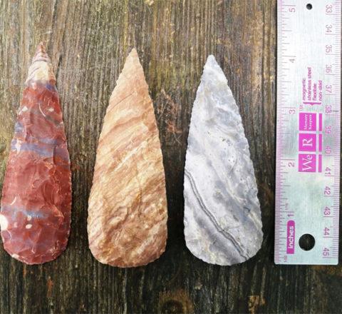 4''Clovis-Arrowhead-Spearpoints