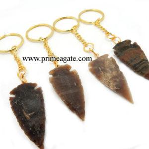 Agate-Arrowhead-Keychains