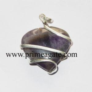 Amethyst-Heart-Shape-Wrapped-Pendant
