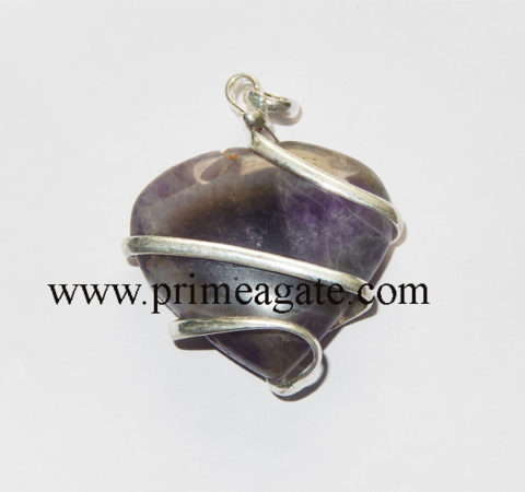 Amethyst-Heart-Shape-Wrapped-Pendant