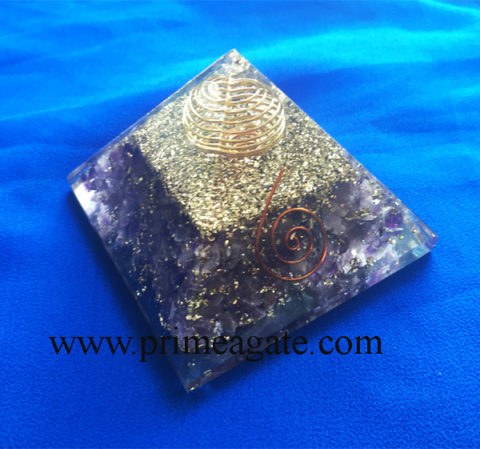 Amethyst-Orgonite-Pyramid-With-Copper-Cage