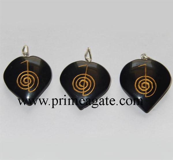 Black-Agate-Heart-Engraved-Reiki-Pendants