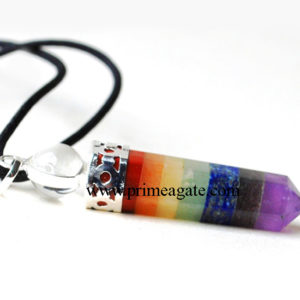 Chakra-2Pc-Cap-Pencil-Pendant-With-Black-Cord