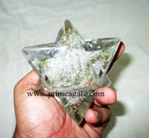 Orgone Merkaba Stars can have remarkable healing powers. Depending on the type of gemstone you have, or want to get, they all have their own innate abilities that can enhance your own power. Whether you are looking for healing emotional, mental, or even physical ailments, Orgone angels can be used to help these issues. By placing orgone in and around your home, you will become aware of the extraordinary change they will have on you and your surroundings. In addition, these organ devices are beautiful as well as functional. They're easy to use, fit into every life style, are perfect for young as well as old and don't need an instruction booklet or special training to use. Each orgone vibrates at an extremely high level and significantly increases the aura and protects from stress, negative energy and harmful, electromagnetic radiation. It accelerates the flow of energy in our bodies and acts as a preventative medicine. Many people place them in or around areas where they relax to enhance the positive energies of that area. The orgone repel the negatives thus promoting a constant positive field to help them unwind after a busy day. The orgone can be placed under your bed, in your nightstand, to help with insomnia and sleep better. Carrying an orgone in your purse or pocket is also a wonderful way to take positive energy with you outside your home or office. Kindly note that since all our products are handcrafted and handmade there always exists slight or minor deviations in size, colour, shape and looks compared to photo. However, the Metaphysical Properties and Healing Qualities will be excellent. The beauty of ORGONE is that it can be combined with various terminologies like Reiki, Usui, Karuna, Earth Elements, Arch Angel, Chokurei, Crystal Therapy, Chakra Balancing Therapy, Pyramid Therapy, Pendulum Therapy, Massage Ball Therapy, Vastu Therapy, Chakra Sanskrit Therapy, Generator Effects, Merkaba Sets, Healing with Massage Sticks and Wands. Orgone gives huge boost while working with above terms using gemstones and semiprecious stones. It works faster and better giving amazing benefits to human body compared to working with normal gemstones. Let orgone help calm your ever-increasing stressful environment, whether it is home, work or school. Not only are they beautiful but they're also a powerful tool to help physically, mentally and spiritually enhance your life and noticeably reduce negative energy. We welcome Wholesale Inquires& also recommend Customized Orders. Please do feel free to mail us at info@PrimeAgate.com for more details.