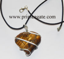 Tiger-Eye-Heart-Shape-Wrapped-Pendant-With-Black-Cord